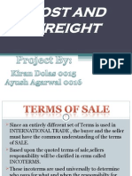 Incoterms Cost and Freight
