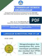 Kebijakan Pembinaan Kursus & Kelembagaan