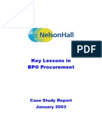 57 Key Lessons in BPO Procurement