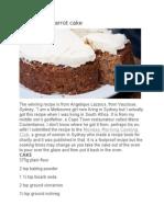 Angelique Carrot Cake