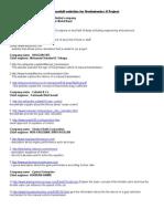 List of Usefull Websites for Mechatronics II Project