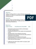 sonia prosser resume 2013-2014