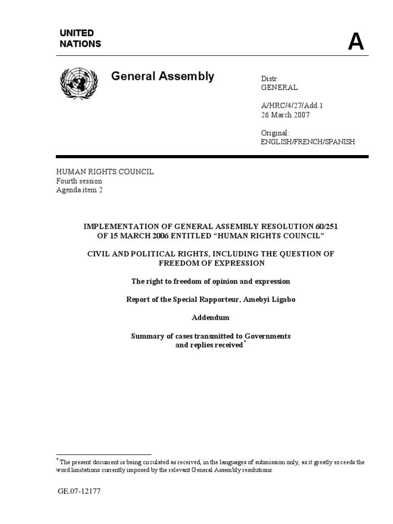 United Nations | Algeria | Statutory Law