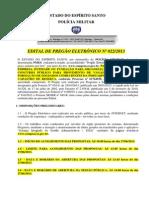 Edital Pm Es 2013