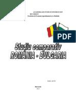 Studiu Comparativ Romania-Bulgaria
