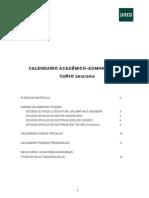 CALENDARIO ACADEMICO ADMINISTRATIVO 2012-2013