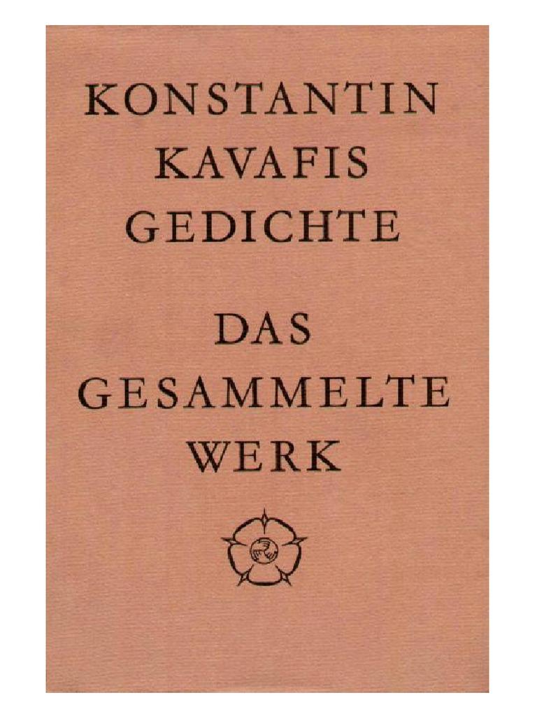 Kavafis Gedichte 2003