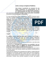 O atendimento à criança na Urgência Pediátrica, Dino Fernandes Enfermeiro EESIP