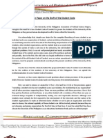 Apsm - Position Paper on Draft of Student Code
