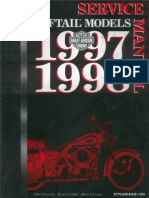 Harley-Davidson 1997- 1998 Softail. Service Manual.