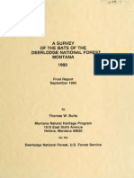 A Survey of the Bats of the Deerlodge National Forest Montana_1992 (1993)_Thomas W. Butts