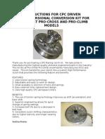 Proclimb Procross Torsional Conversion Kit