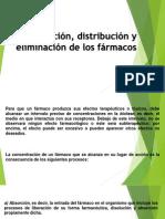 Absorción, distribución y eliminación de los fármacos