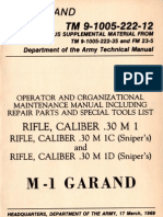 US Army TM 9-1005-222-12 - M1 (Garand), M1C Sniper and M1D Sniper - March 1969