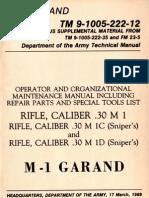 US Army TM 9-1005-222-12 - M1 (Garand), M1C Sniper and M1D Sniper - March 1969