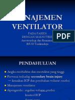 Manajemen Ventilator Pasien Malnutrisi