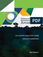 Um convite a reflexão sobre serviços ambientais