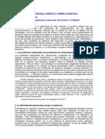 CAMBIO CLIMÁTICO-REFLEXIÓN PERSONAL DOMINGO GÓMEZ OREA