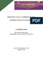 Propuesta Dominicanos en El Exterior