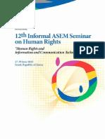 12th Informal ASEM Seminar on Human Rights Publication