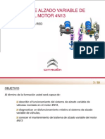 Sistema alzado variable de vávulas
