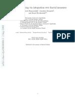 Entropy Computing via Integration Over Fractal Measures