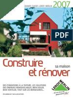 Leroy Merlin - Bricolage - Grand Guide - Construire Et Renover Sa Maison