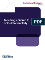 teaching children to calculate mentally
