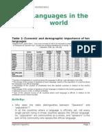 TorresBrandon_AppiedLinguistics_Morning_Languages in the world.doc