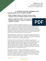 Nota de Prensa de Isabel Moreno.