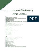 Jerga chilena en España