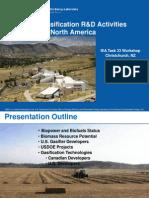 Biomass Gasification R&D Activities