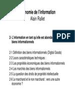 InfoEco Chap 2 - L'Info Comme Abondante (1)