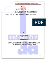Risk Management via Insurance and Its Future in Suburban Area Rajiv Roy 08BS0002557