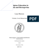 Religious Education in Bosnia and Herezegovina_MA Thesis