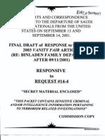 T5 B68 Saudi Flights Fdr- Entire Contents- FBI Reports- Withdrawal Notices 607