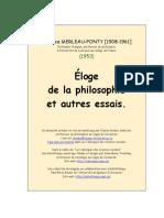 Eloge de La Philosophie - Merleau Ponty