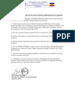 Status of Natural Resources in Cabinda