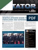 LAPD Reserve Rotator Newsletter Winter 2011
