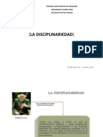 La Disciplinariedad ( Arianis a. Leon )