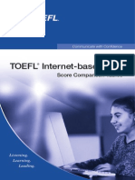 TOEFL iBT Score Comparison Tables