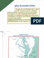 T8 B16 Otis Langley AF One 1 of 2 Fdr- Slides- Radar Maps- Langley Scramble Order 136