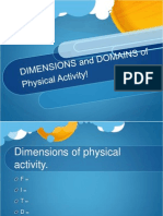 dimensions and domains of physical activity