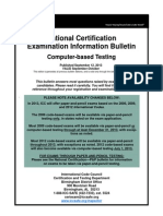 2013-09-10 National Certification Examination Information Bulletin-CBT
