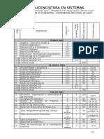 Licenciatura en Sistemas 2007