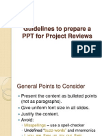 Guidelines to Prepare a PPT for Project Reviews