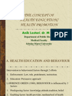 The Concept of Health Education and Promotion