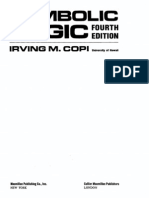163865142 Copi Irving M Symbolic Logic 4th Edition