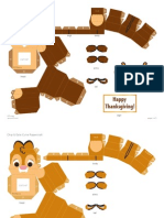 Chip & Dale Cutie Papercraft Craft Printable 1012