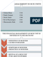 Financial Management in Sick Units